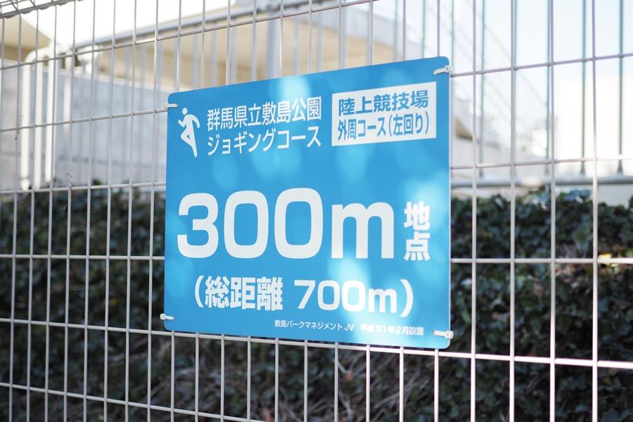 群馬県立敷島公園のジョギングコース