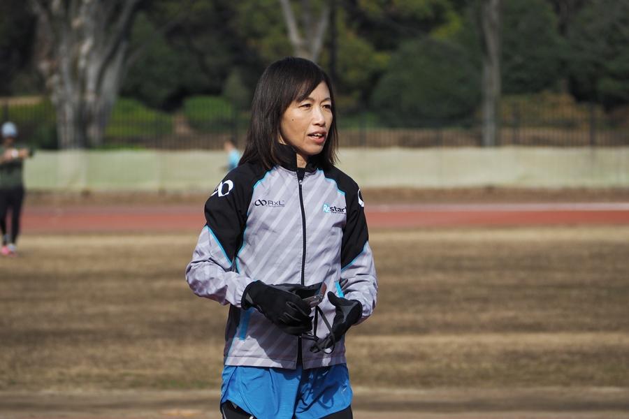 指導風景 片岡純子ヘッドコーチ