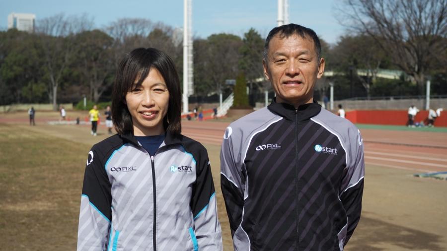 石川哲行代表と片岡純子ヘッドコーチ