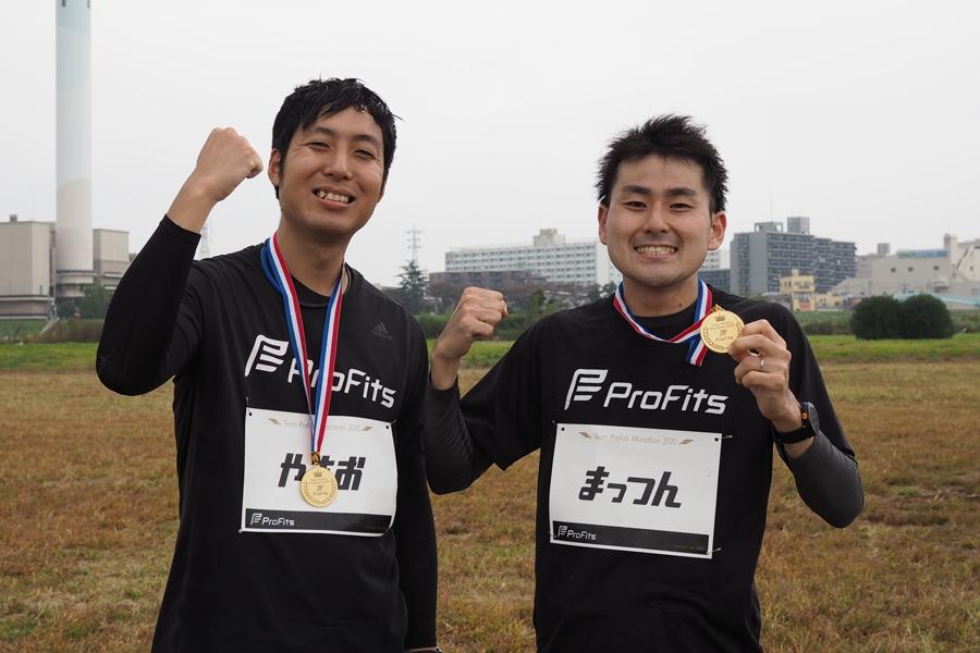 お二人とも初フル完走おめでとうございます。