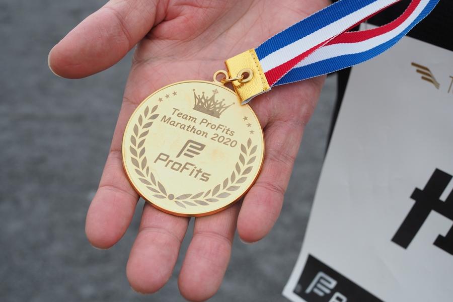 Team ProFits Marathon 2020 完走メダル
